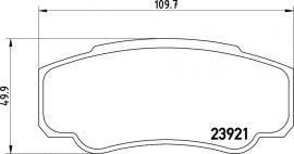 Peugeot Boxer  fékbetét garnitúra | Textar 2392101