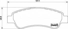 Peugeot Boxer  fékbetét garnitúra   Textar 2446501